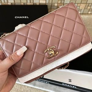 Auth. Chanel Rare Color Trendy CC W.O.C Crossbody